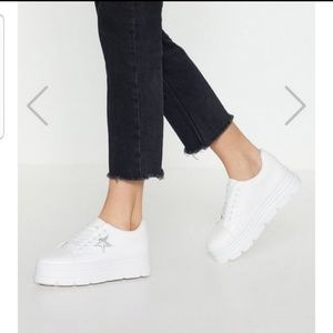 Nasty gal sneakers.  Great quality, super comfy.